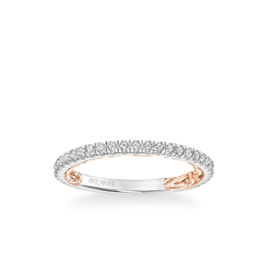 Lara Lyric Collection Classic Diamond Wedding Band