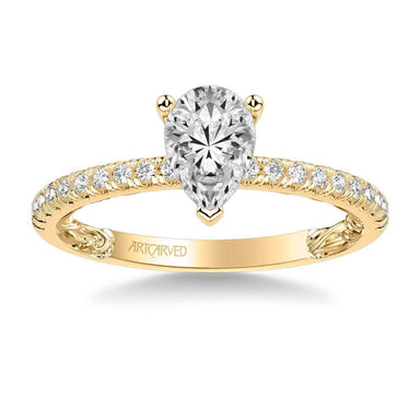Renee Lyric Collection Side Stone Diamond Engagement Ring