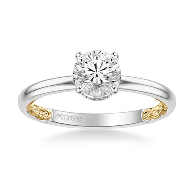 Aileen Lyric Collection Classic Solitaire Diamond Engagement Ring