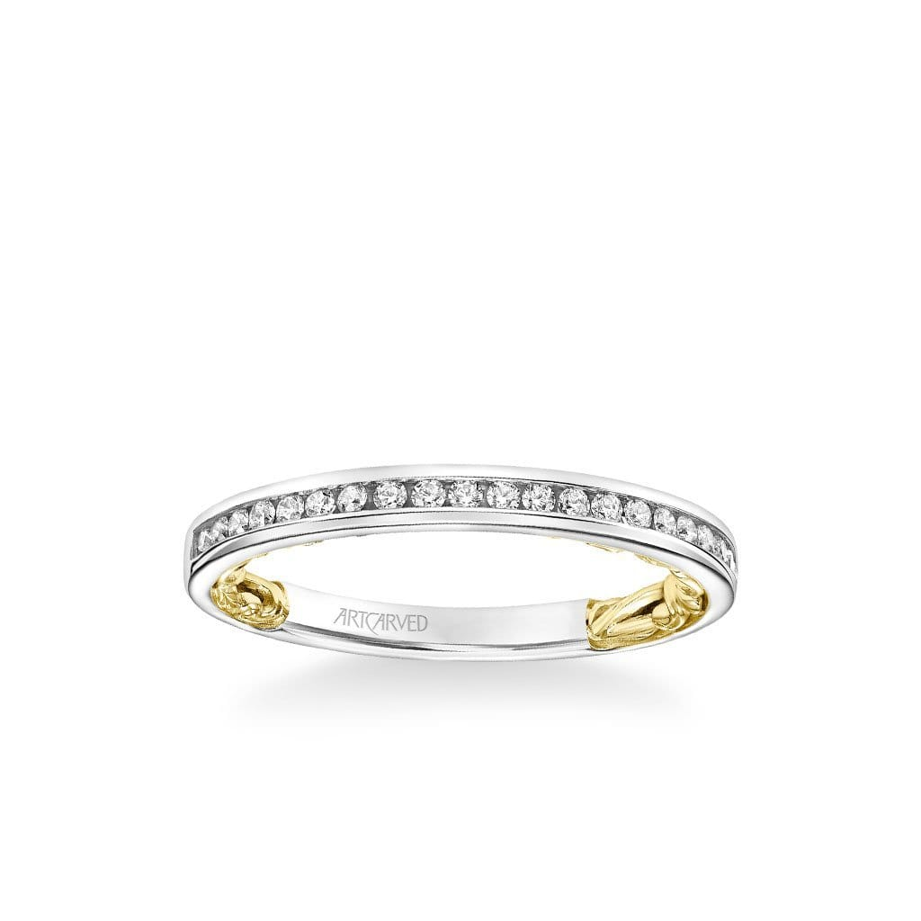Christy Lyric Collection Classic Channel Set Diamond Wedding Band