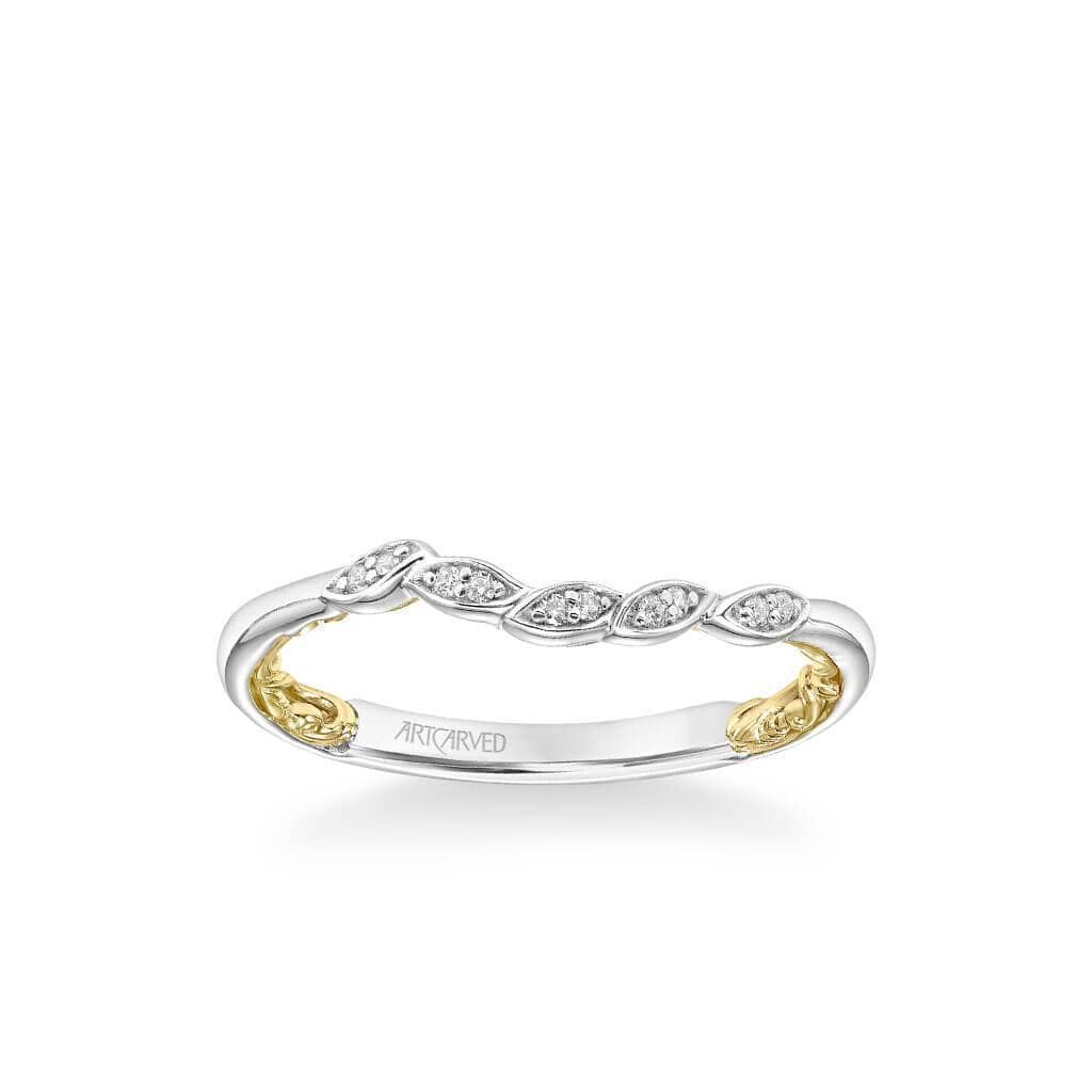 Charnelle Lyric Collection Classic Diamond Floral Wedding Band