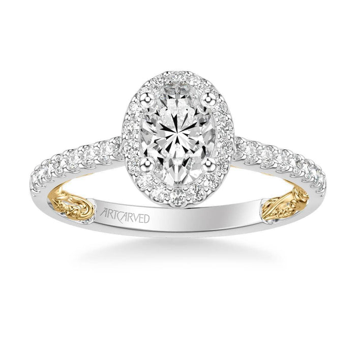 Falyn Lyric Collection Classic Oval Halo Diamond Engagement Ring