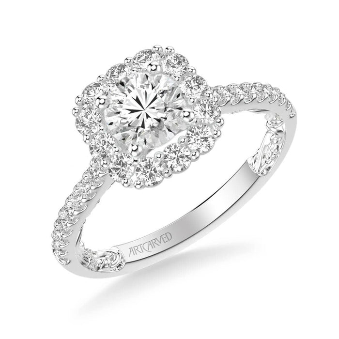 Cherise Lyric Collection Classic Halo Diamond Engagement Ring