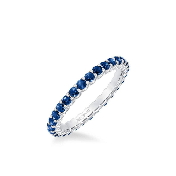 Stackable Sapphire Eternity Band