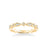 Stackable Band with Diamond and Milgrain Accented Multi-Shape Design