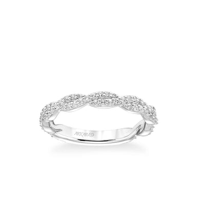 Stackable Band with Diamond Twist