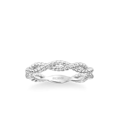 Stackable Band with Rope Twist