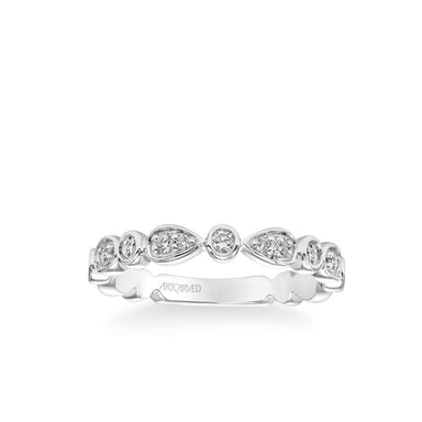Stackable Band with Diamond and Multi-Shape Design
