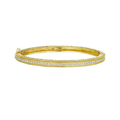 Pave & Twist Bangle