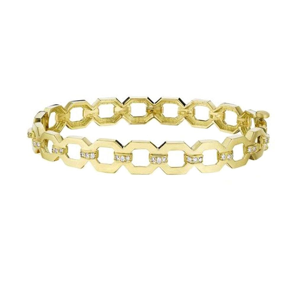 Yellow Gold And Diamond Bracelet