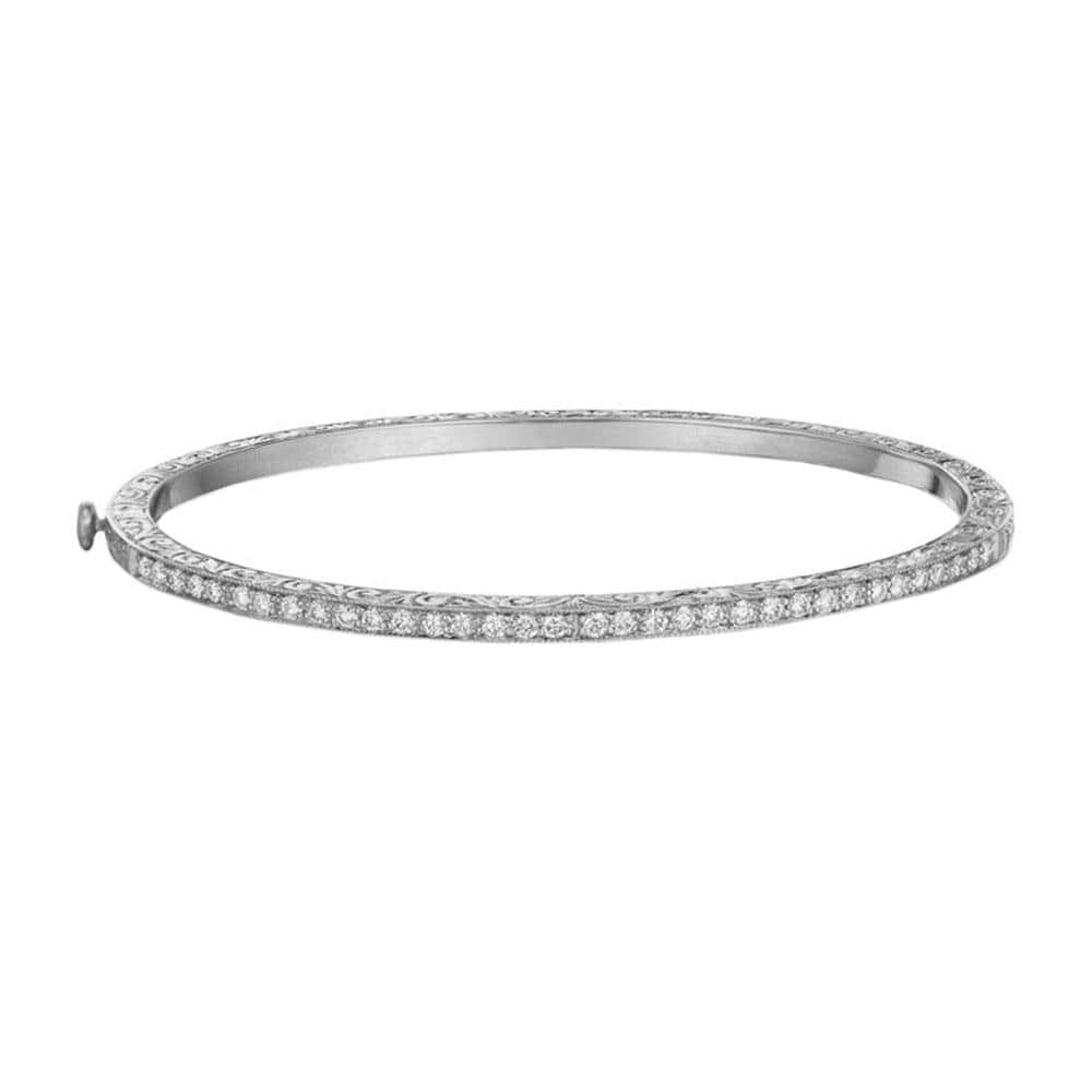 THIN DIAMOND ENGRAVED BANGLE