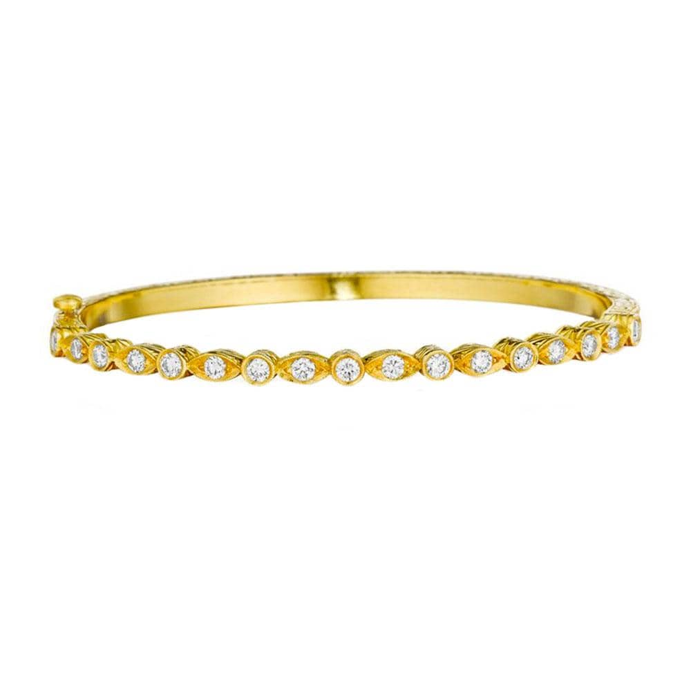 MARQUISE & ROUND DIAMOND BANGLE