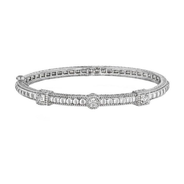 SQUARE & ROUND DIAMOND BANGLE