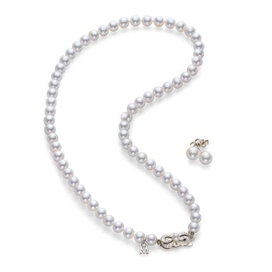 Mikimoto Akoya Cultured Pearl Set - 18 karat White Gold