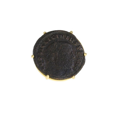 Bronze Roman Licinius Coin Ring
