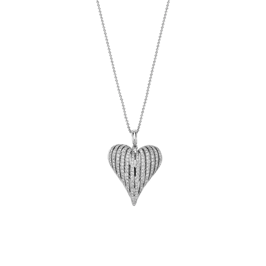 Classic Diamond Angel Heart Pendant