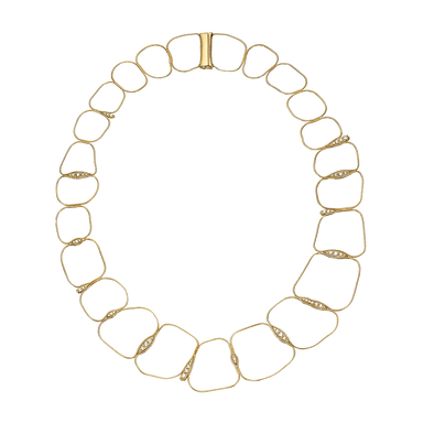 Diamond Fluid Chain Necklace