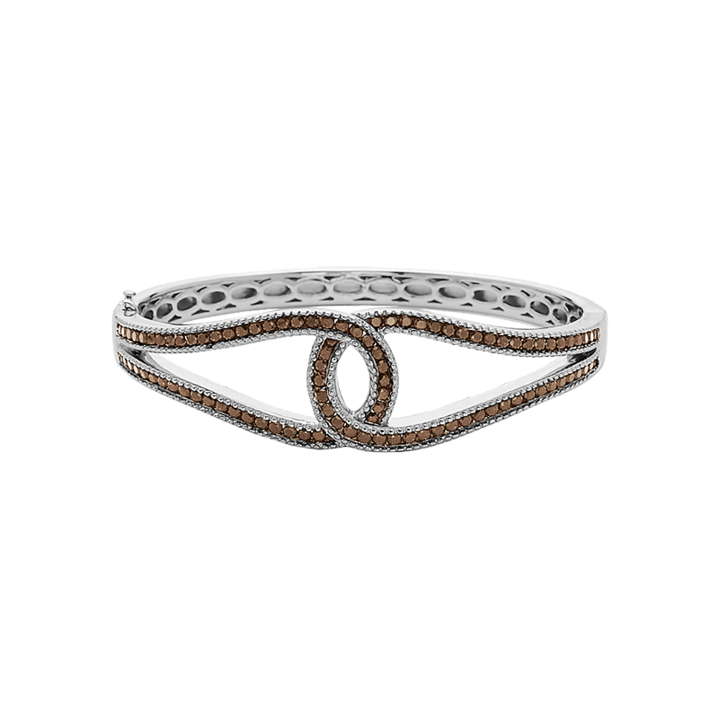 Stslvr Brown Diamond Double C Bracelet