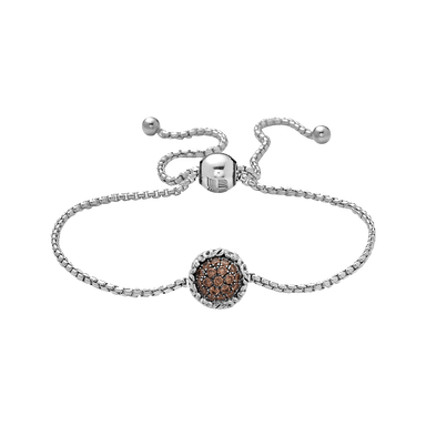 Stslvr Brown Diamond Bolo Bracelet