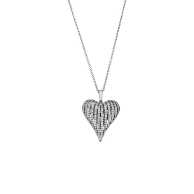 Petite Diamond Angel Heart Pendant