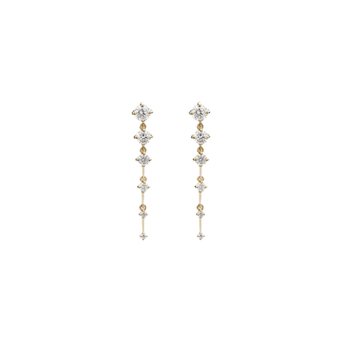 Diamond Sequence Short Drop Earrings