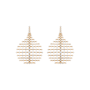 Diamond Small Disco Earrings