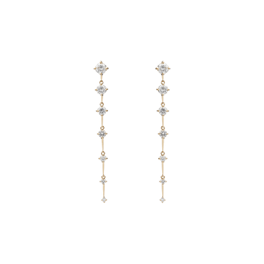 Diamond Sequence Medium Drop Earrings