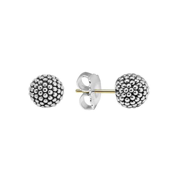 SIGNATURE CAVIAR BEADED STUD EARRINGS