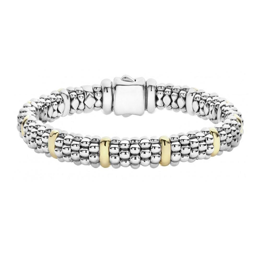 SIGNATURE CAVIAR BEADED BRACELET WITH GOLD