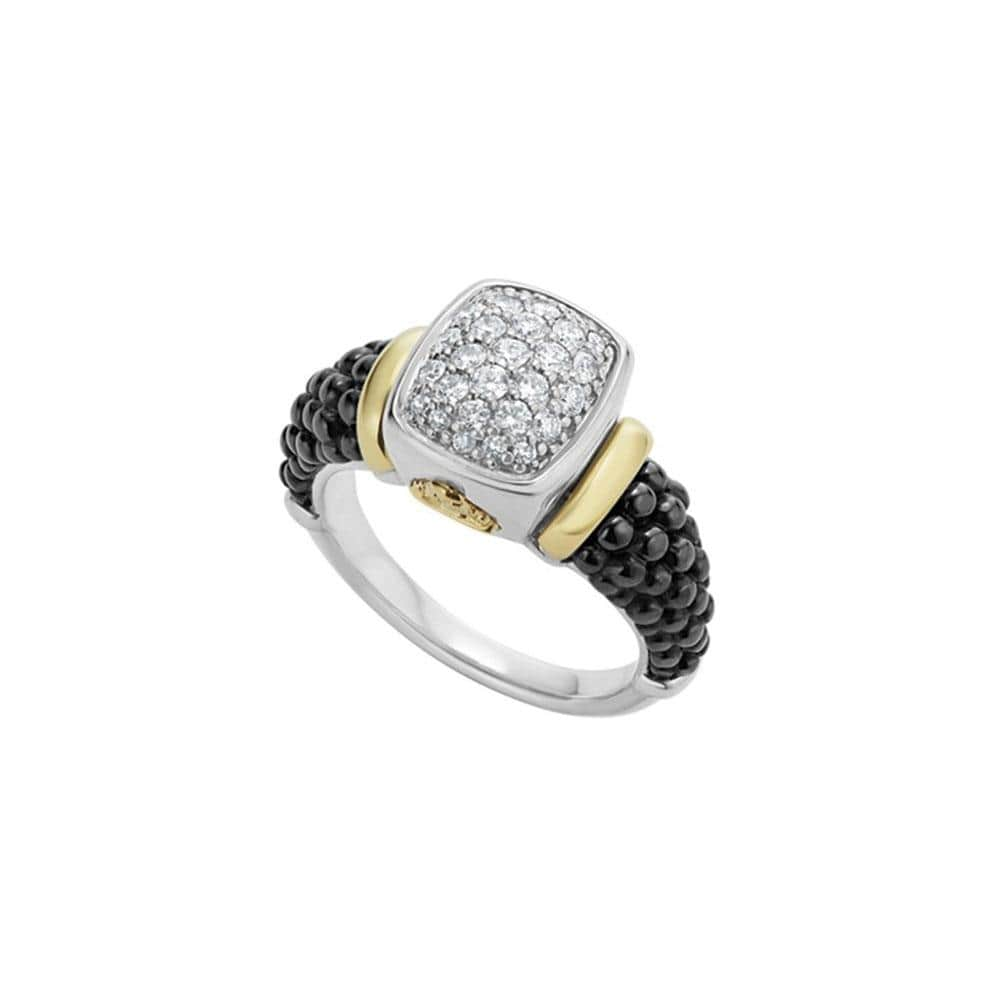 Black Caviar Diamond Ring