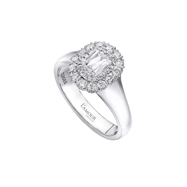 L'Amour Crisscut® Diamond Engagement Ring 107
