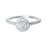 Round  Halo Diamond Ring (Platinum)