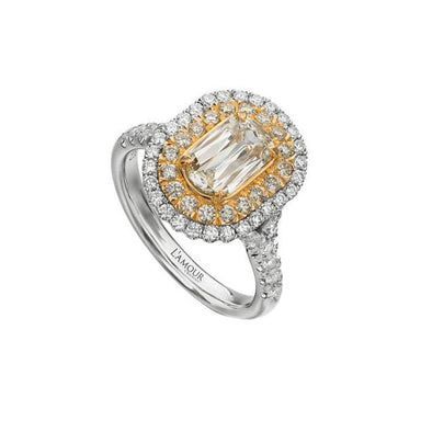 L'Amour Crisscut® Yellow Diamond Engagement Ring 124