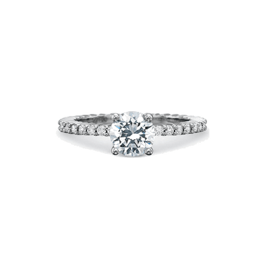 Classic Shared Prong White Gold Setting