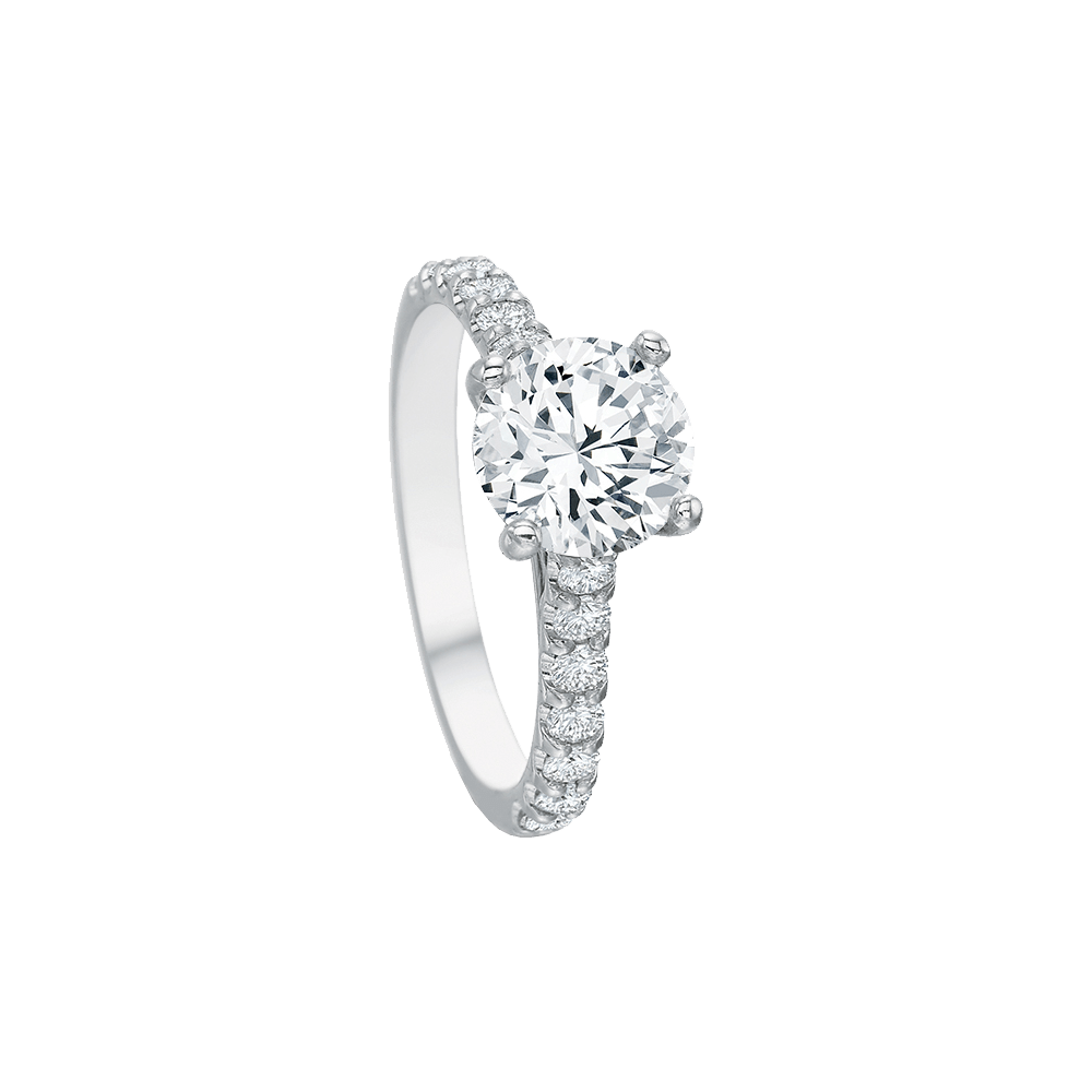Platinum Comfort Fit Diamond Setting