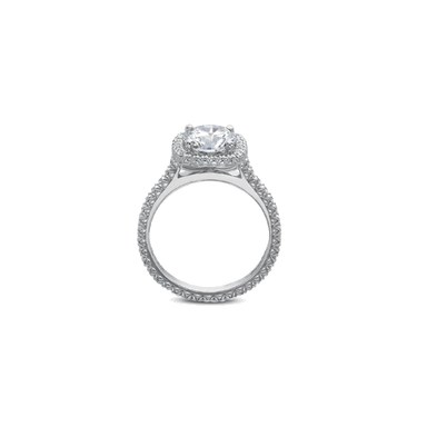 Petite FlushFit Halo White Gold Setting