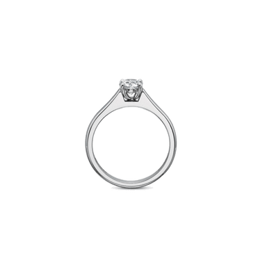 FlushFit Solitaire White Gold Setting