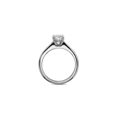 Petite FlushFit Side Stones White Gold Setting