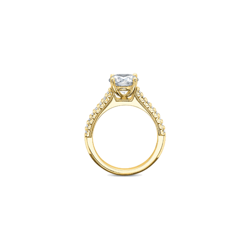 Petite FlushFit Side Stones Yellow Gold Setting