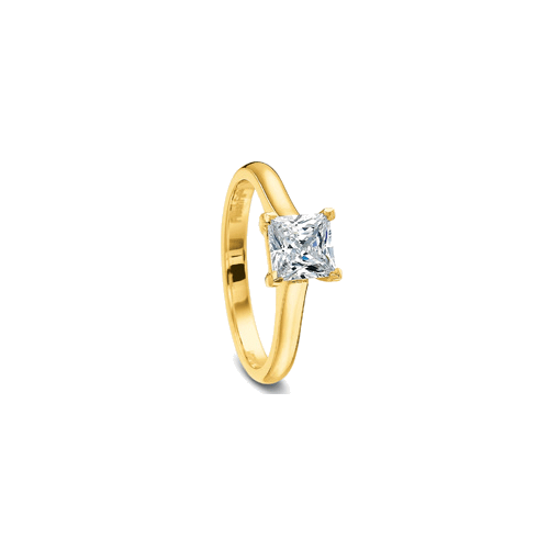 FlushFit Solitaire Yellow Gold Setting