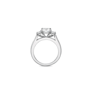 FlushFit Three Stone White Gold Setting