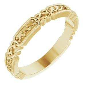 14K Yellow 1.5 mm Round Celtic-Inspired Anniversary Band Mounting