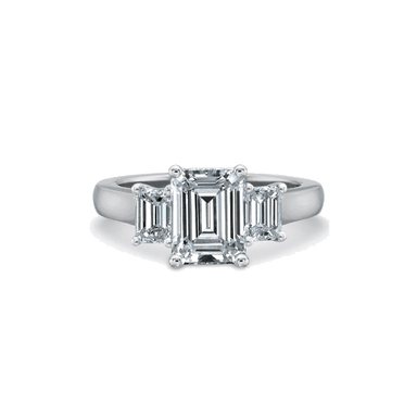 FlushFit Three Stone Platinum Setting