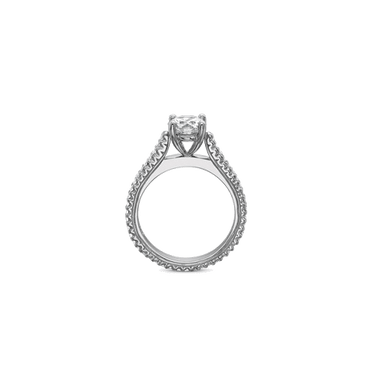 FlushFit Shared Prong Platinum Setting