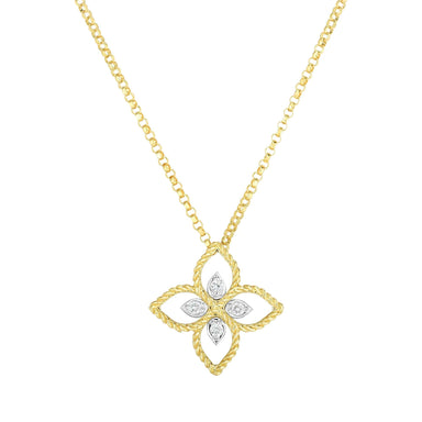Principessa Flower necklace with diamonds