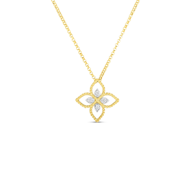 Diamond Principessa Flower Necklace