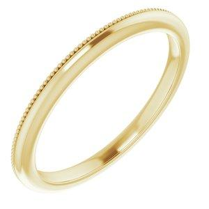 10K Yellow Band for 6 mm Cushion Ring