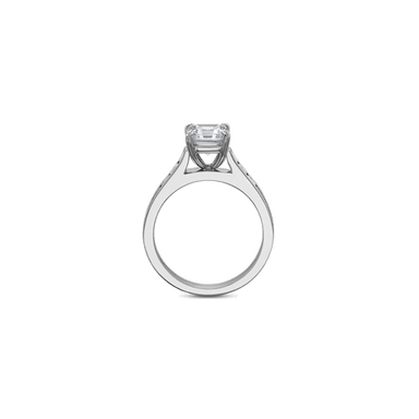 FlushFit Side Stones Platinum Setting