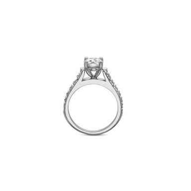 FlushFit Side Stones White Gold Setting