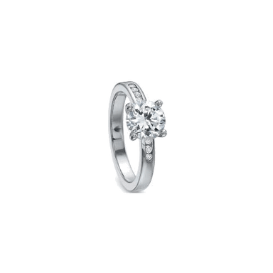 Classic Channel Set White Gold Setting